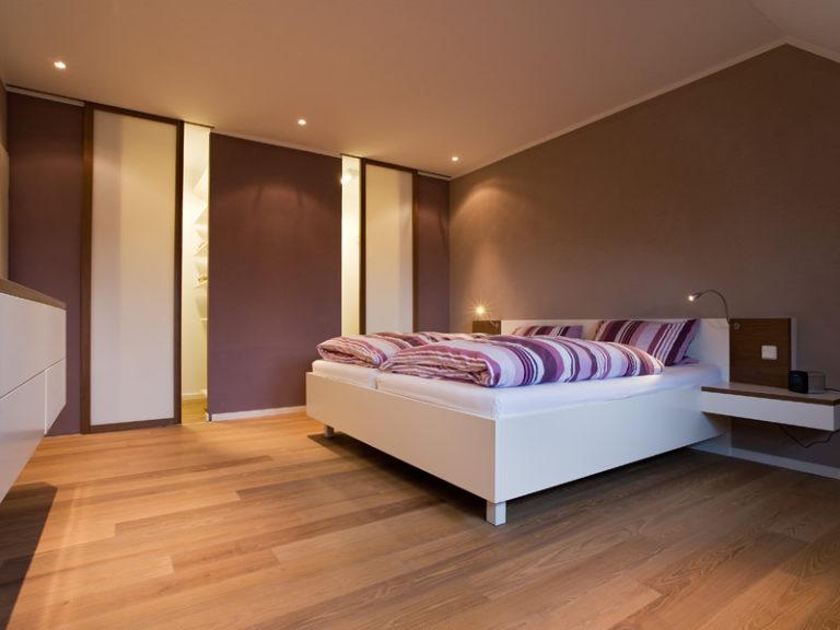 Schiebetüre Holzrahmen Schlafzimmer