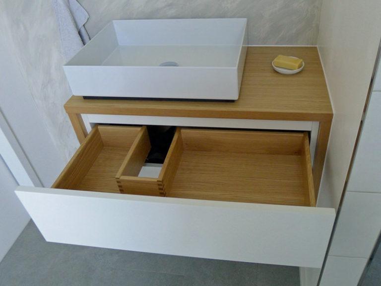 Waschtischschrank Schublade Eiche